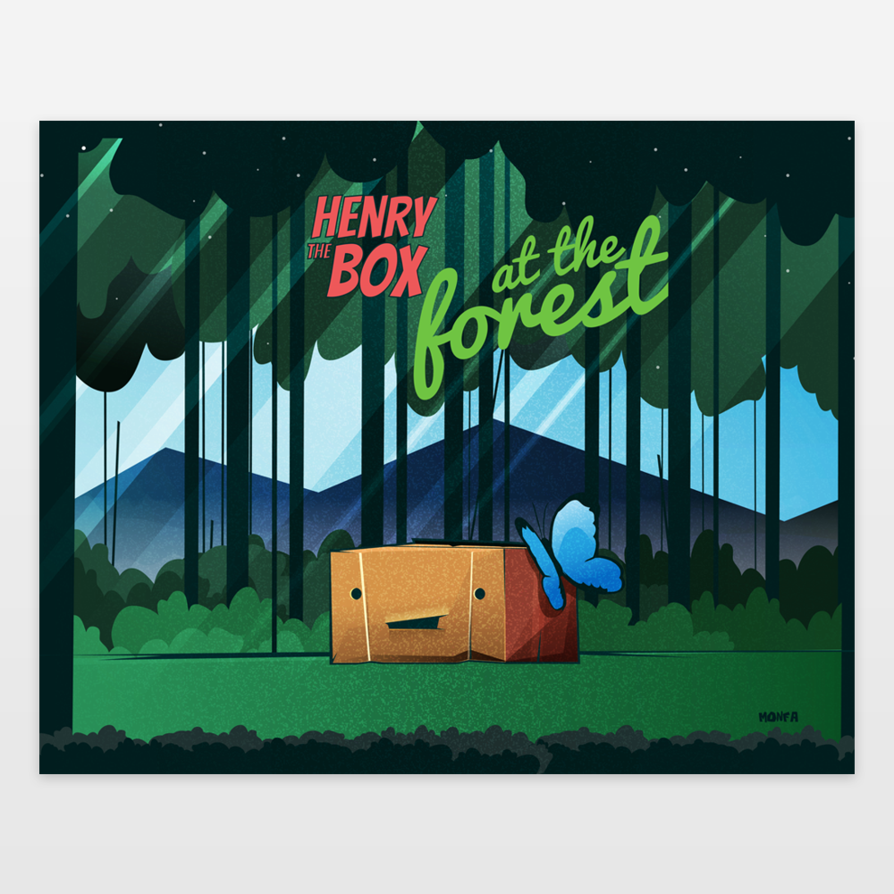 Henry the Box at the forest