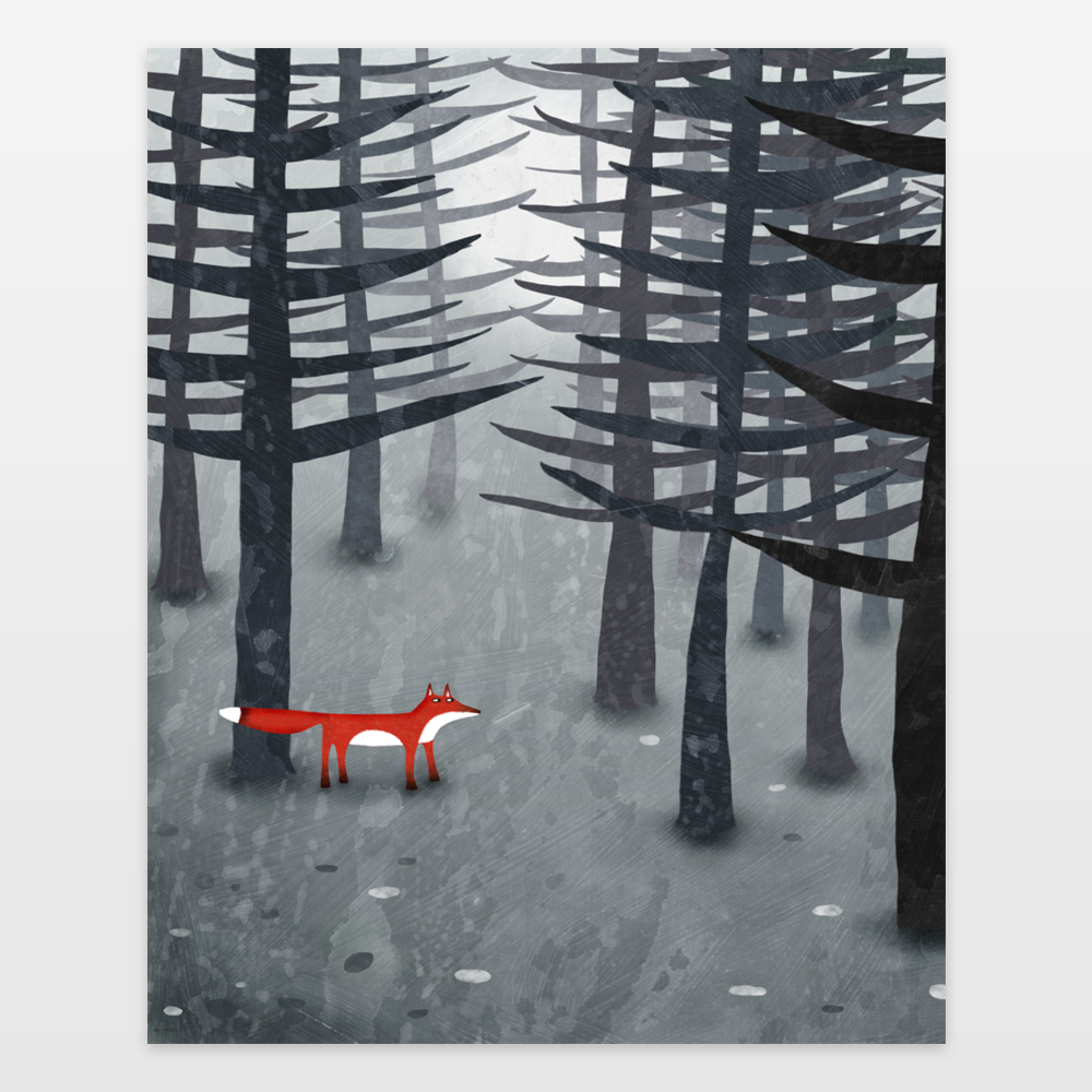 The Fox and the Forest by BoomBoom Prints Artist Nic Squirrell