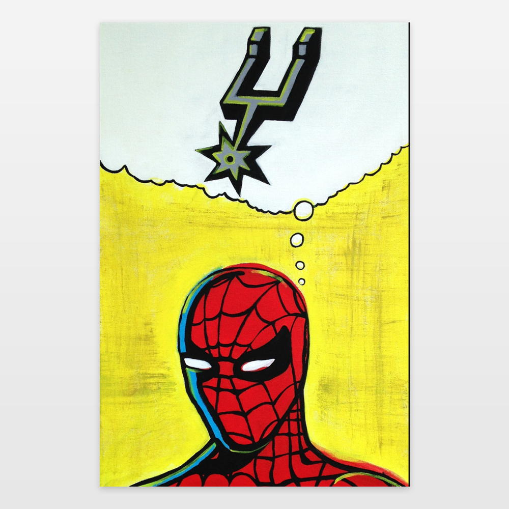 Spiderman Go Spurs Go