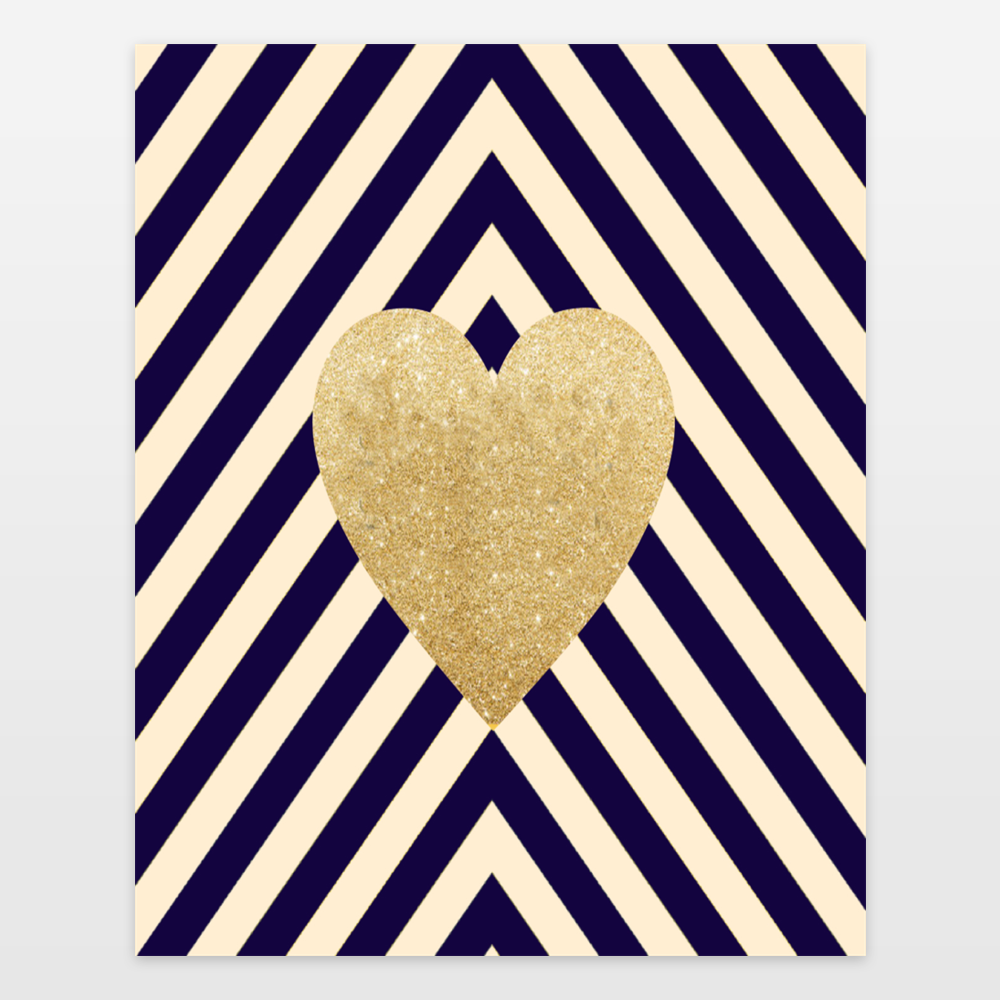 """Gold Heart"" by Fight Song Co., BoomBoom Prints"