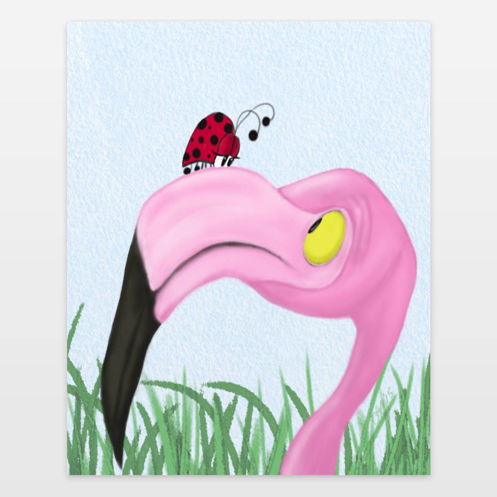 Fiona The Flamingo And Her Visitor