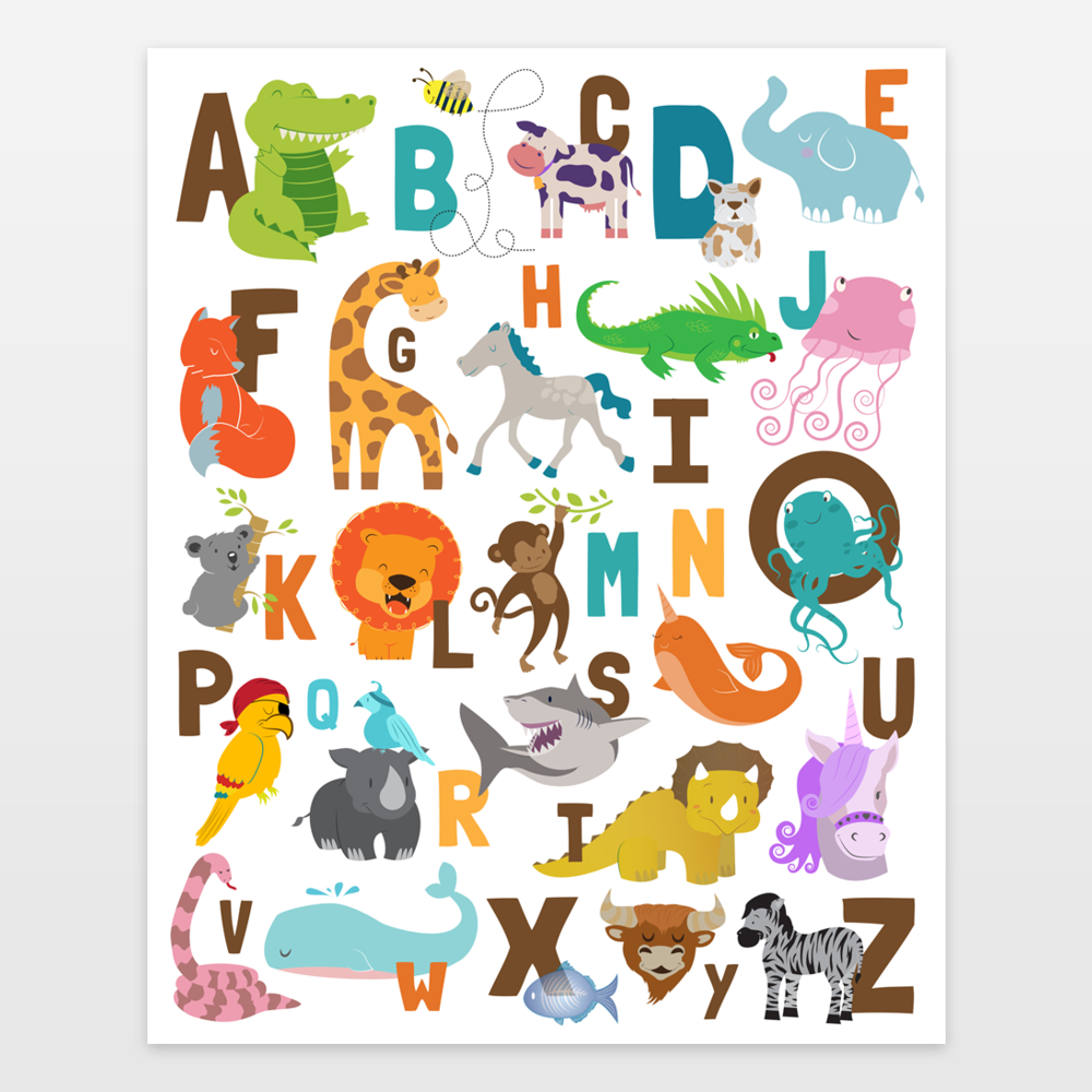 Animal Alphabet Jungle Safari ABCs