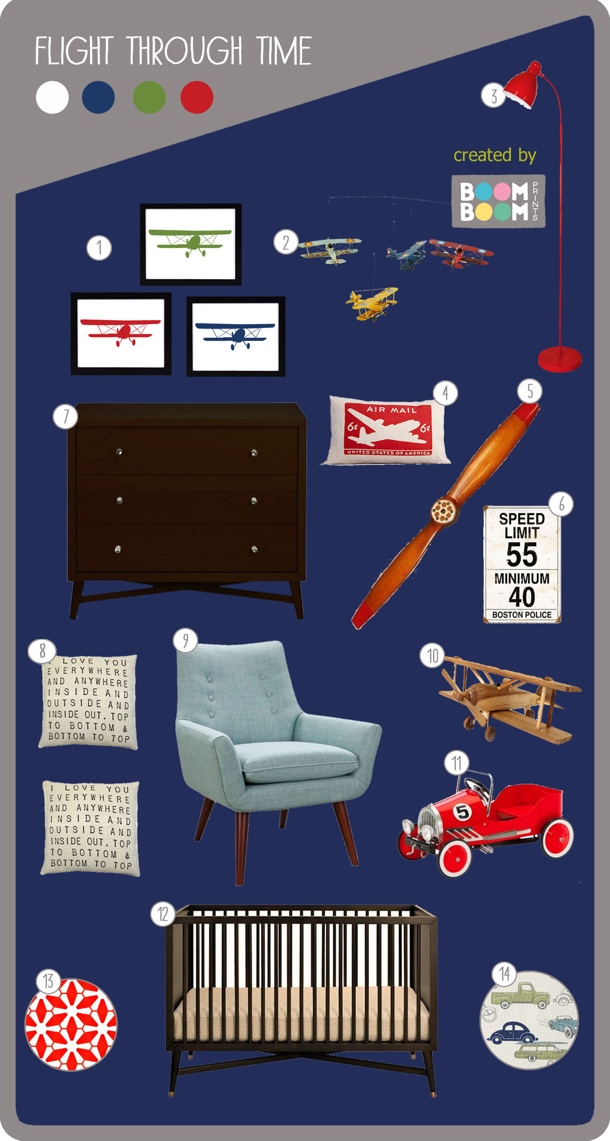 Retro Car and Plane Nursery