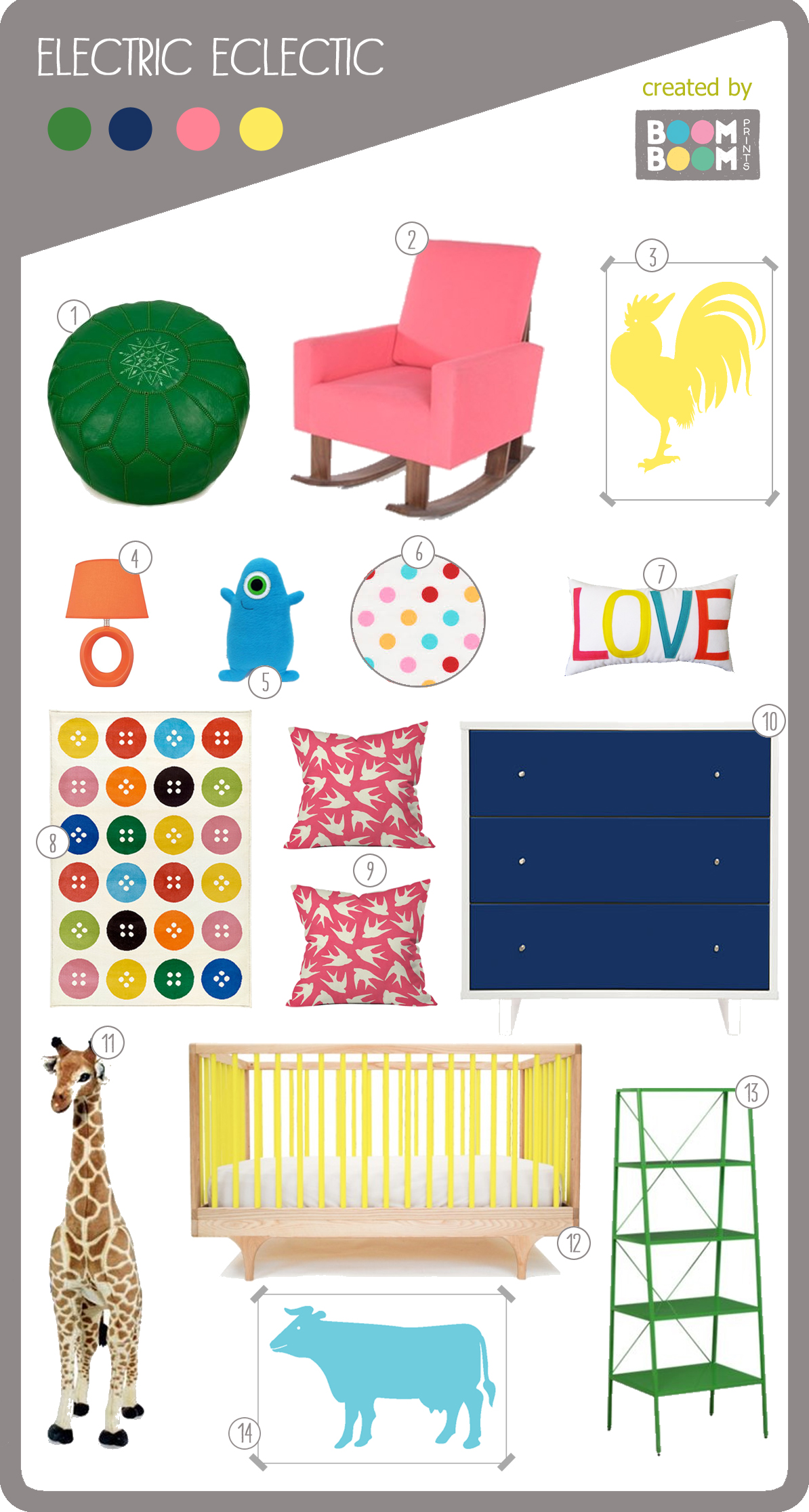 Bright and Colorful Nursery Design