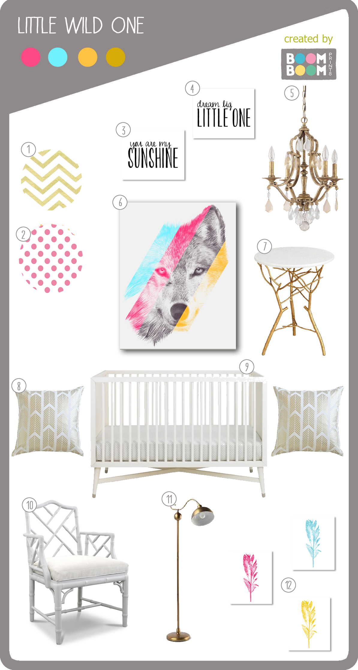 Bright and Modern Wolf Nursery