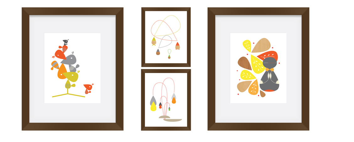 Modern Nursery Art from BoomBoom Prints