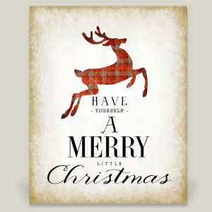 """Have Yourself A Merry Little Christmas"" wrapped canvas print by featured holiday artist After February on BoomBoom Prints"