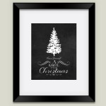 """Have Yourself A White Little Christmas"" framed art print by featured holiday artist After February on BoomBoom Prints"