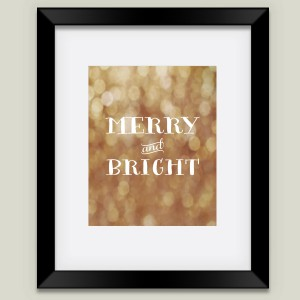 """Merry and Bright"" framed art print by featured holiday artist After February on BoomBoom Prints"