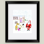 """Christmas Joy"" framed art print by featured artist Kathy Braceland on BoomBoom Prints"