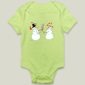 """Chrismas Cheer"" onesie by featured artist Kathy Braceland on BoomBoom Prints"