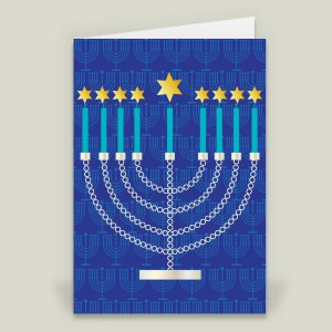 """Menorah"" folded card by featured holiday artist Melissa Held on BoomBoom Prints"