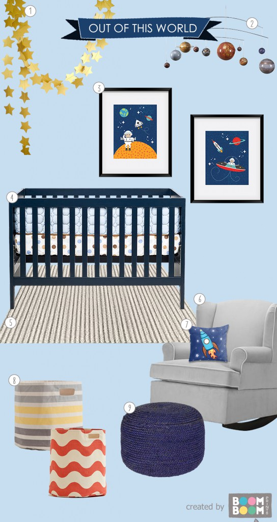 Nursery Roomboard Inspiration: Space