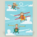 Pilots and Planes nursery art print