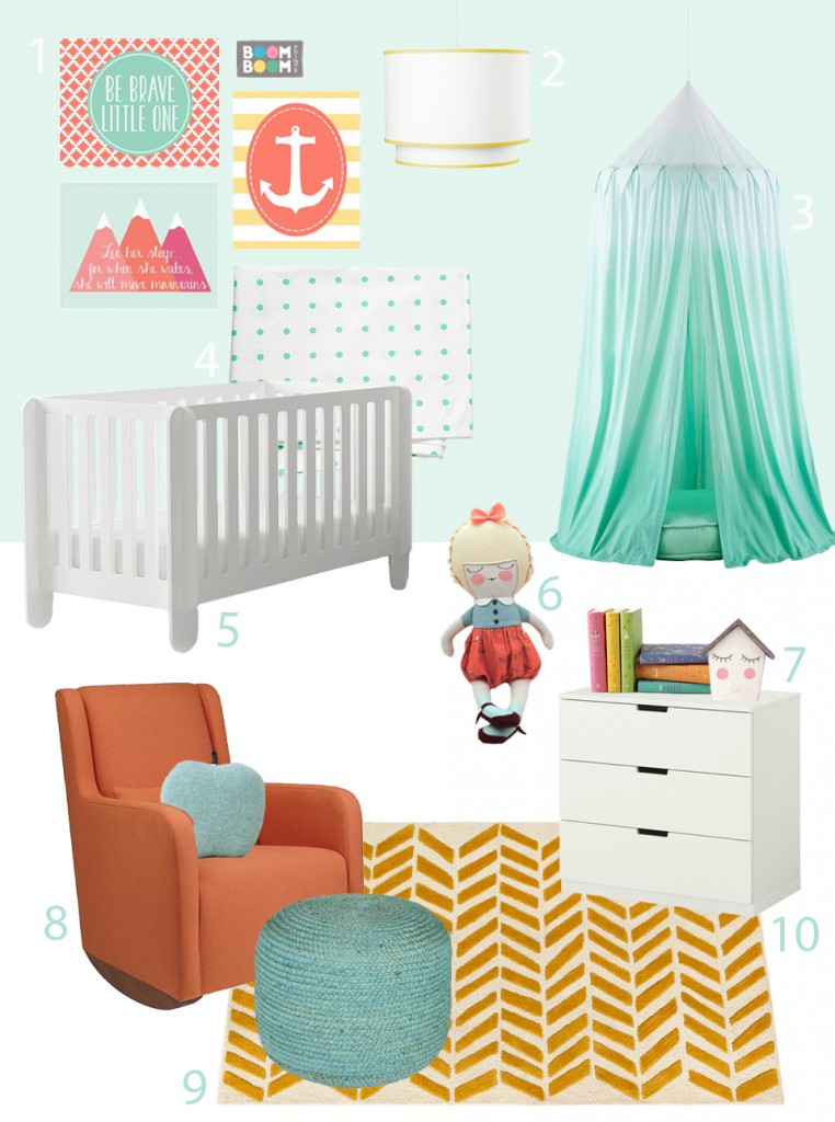 BuyModernBaby and Lion and the Lark  Nursery Roomboard