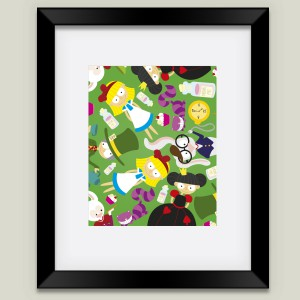 Alice and the Gang Nursery Print