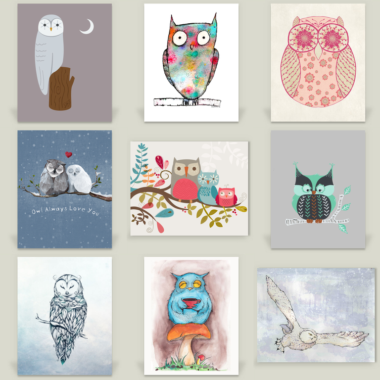 9 Owl Prints For Your Nursery