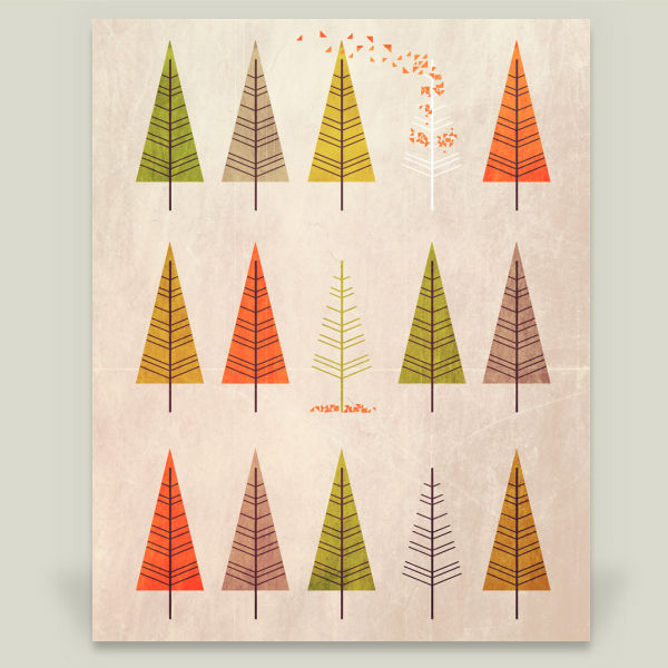 """Flock of Trees"" by Annisa Tiara Utami, BoomBoom Prints"