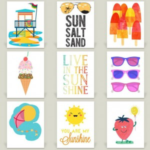 9 Prints for Sunshine & Summer