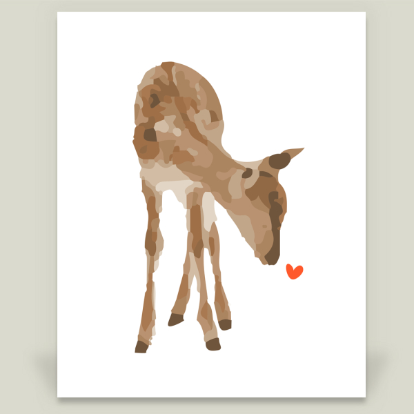 """Doe a Deer"" by Jasmine Designs, BoomBoom Prints"