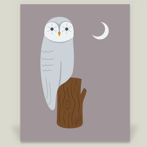 """Night Owl"" by Running River Design, BoomBoom Prints"
