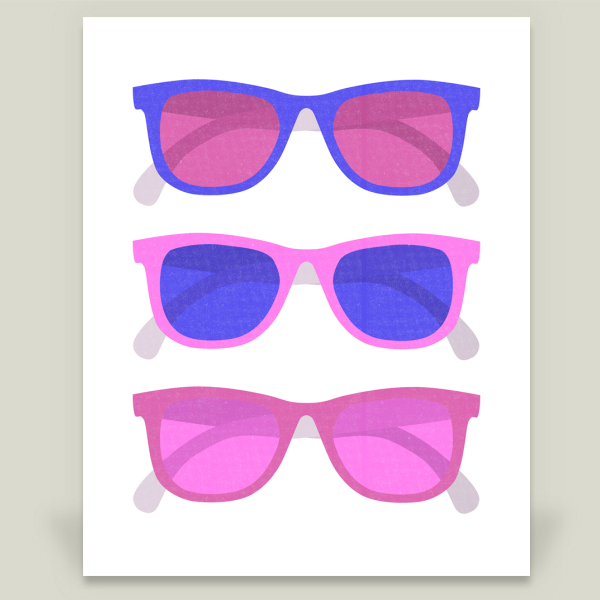 """Sunglasses - Pink"" by Sugar and Bean, BoomBoom Prints"