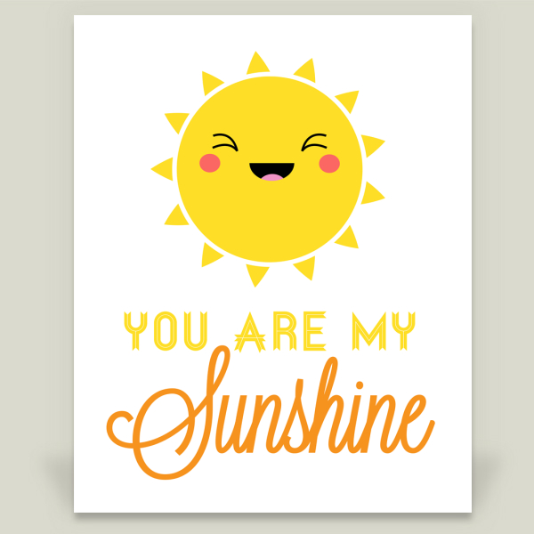 """You Are My Sunshine"" by BitsyCreations, BoomBoom Prints"