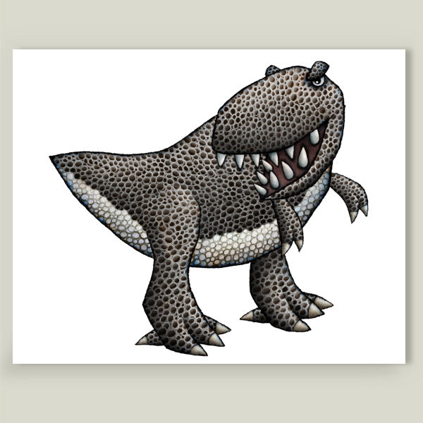 """T Rex"" by Mike Levitt, BoomBoom Prints"