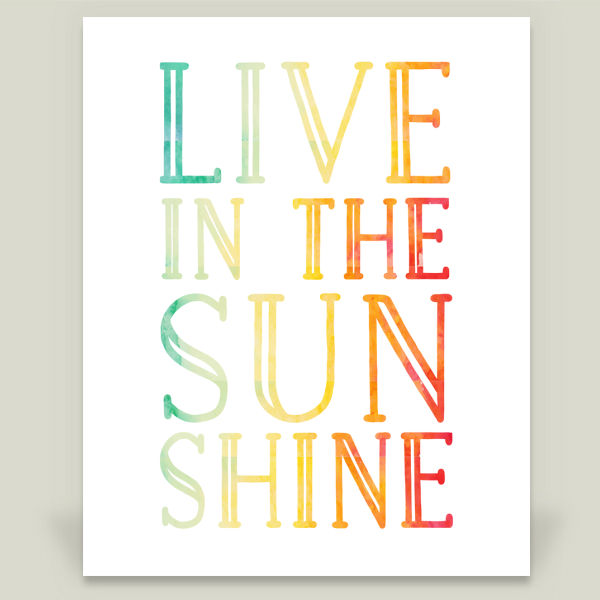 """Live in the Sunshine"" by Farmhouse Prints, BoomBoom Prints"