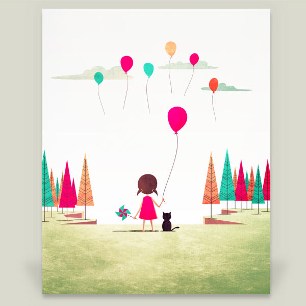 """Floating"" by Annisa Tiara Utami, BoomBoom Prints"