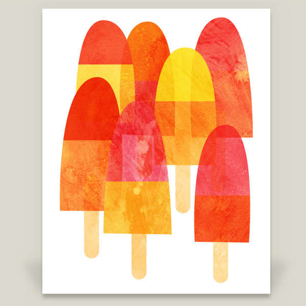"""""""Ice Lollies"""" by Nic Squirrell, BoomBoom Prints"""