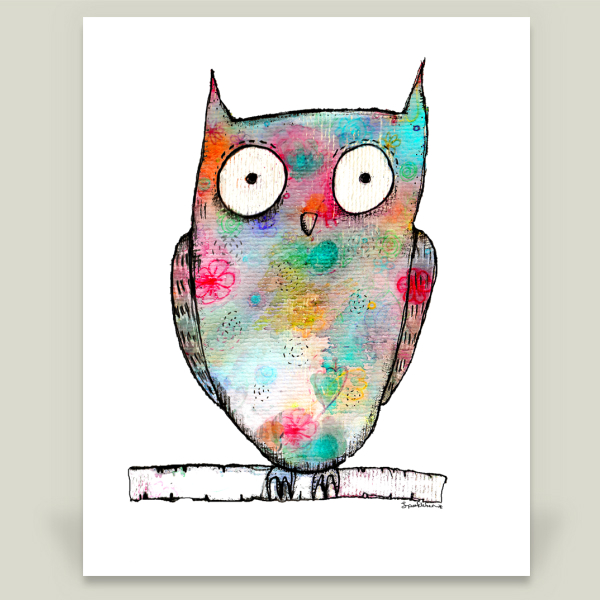 """Owl"" by Heather Scott, BoomBoom Prints"