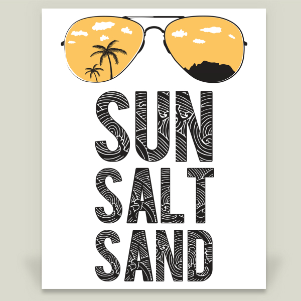"""Sun Salt Sand - Orange"" by Suzie Deyo, BoomBoom Prints"