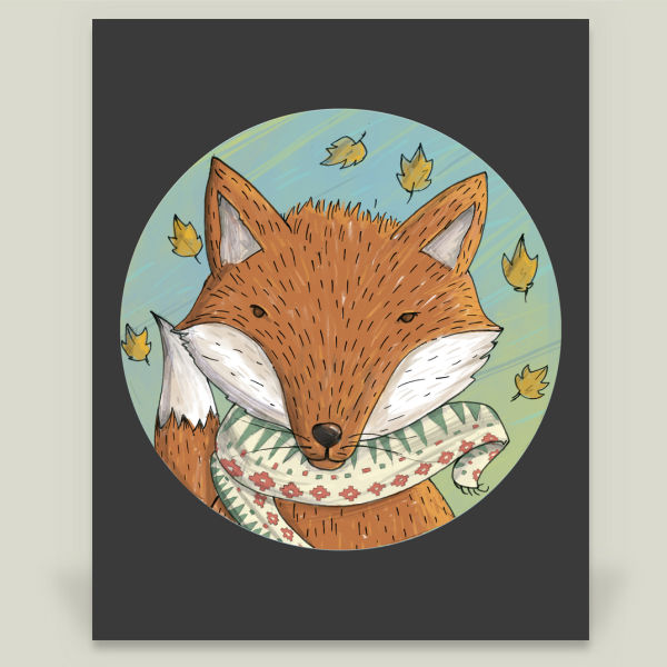 """Fox"" by Cihangdag, BoomBoom Prints"