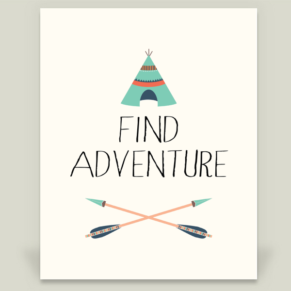 """Find Adventure"" by Zoom Boone Creations, BoomBoom Prints"