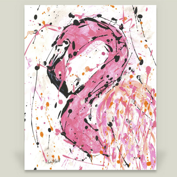 """Pink Flamingo Stella"" by Amber McDowell, BoomBoom Prints"