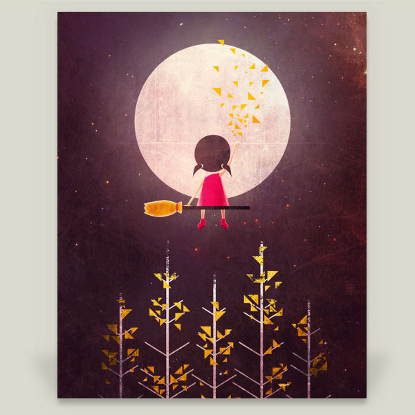 """A Little Night Wanderer"" by Annisa Tiara Utami, BoomBoom Prints"
