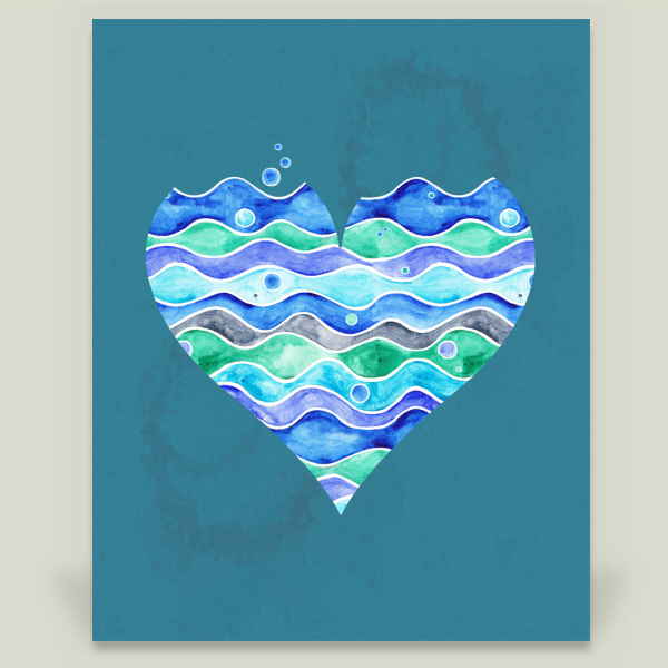 """A Sea of Love Blue"" by Timone, BoomBoom Prints"