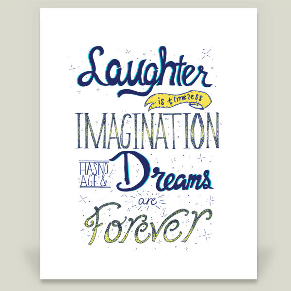 """Laughter is Timeless"" by Traci Maturo Illustrations, BoomBoom Prints"
