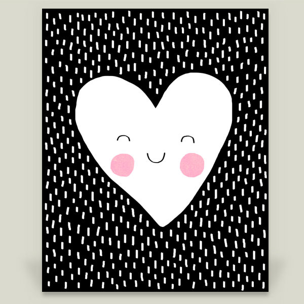 """Happy Heart"" by Elisabeth Fredriksson, BoomBoom Prints"
