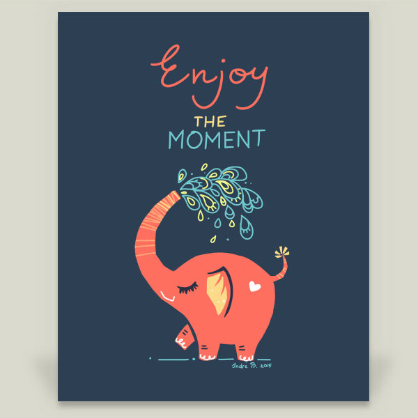 Enjoy the Moment by Freeminds, BoomBoom Prints