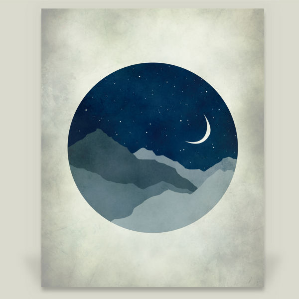 """Starry Night"" by Eve Sand, BoomBoom Prints"