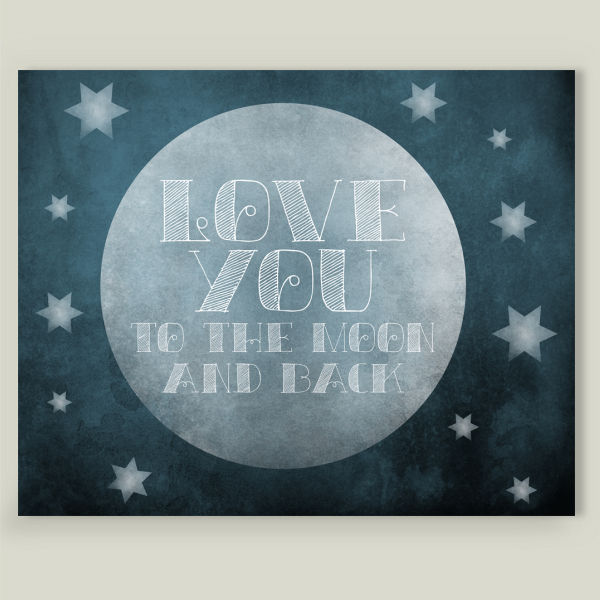 """Love You To The Moon"" by Fran Designs, BoomBoom Prints"