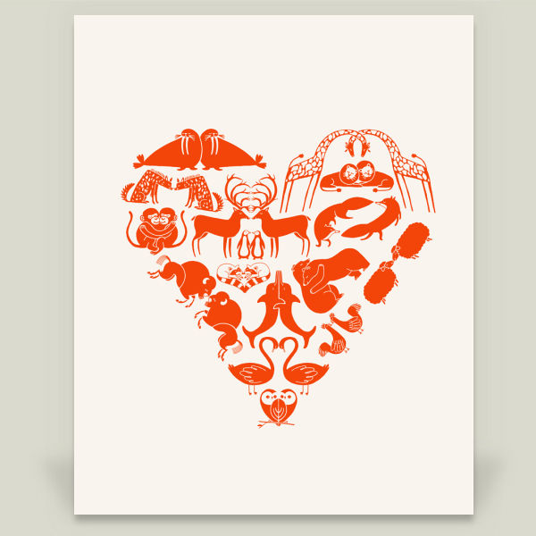 """Animal Heart"" by Lucky Fox, BoomBoom Prints"