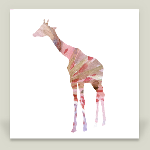 """Pink Giraffe"" by Michelle Dujardin, BoomBoom Prints"