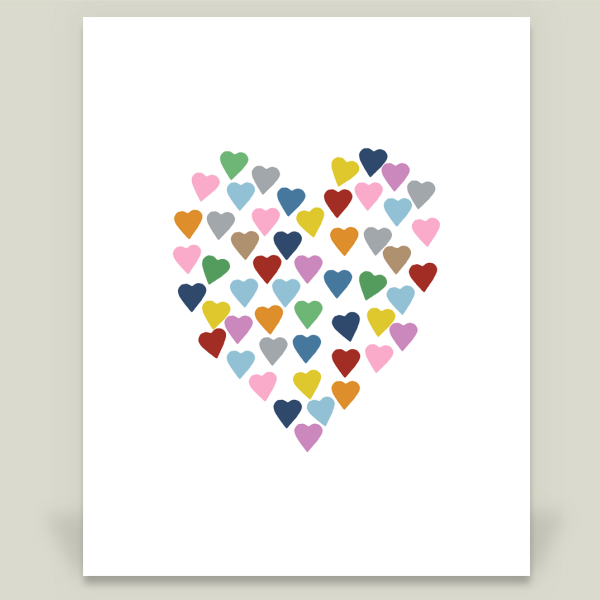 """Hearts Heart"" by Project M, BoomBoom Prints"