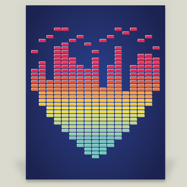 """Beat-ing Heart"" by Sugar and Bean, BoomBoom Prints"