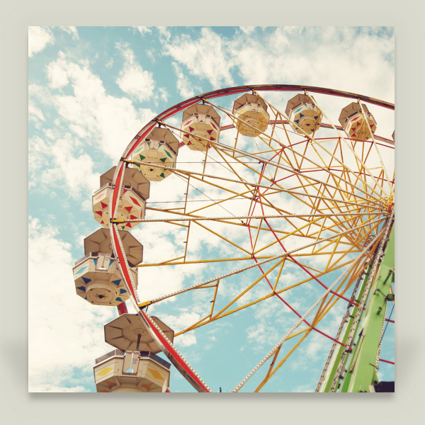 """Ferris Wheel"" by Sylvia Cook, BoomBoom Prints"