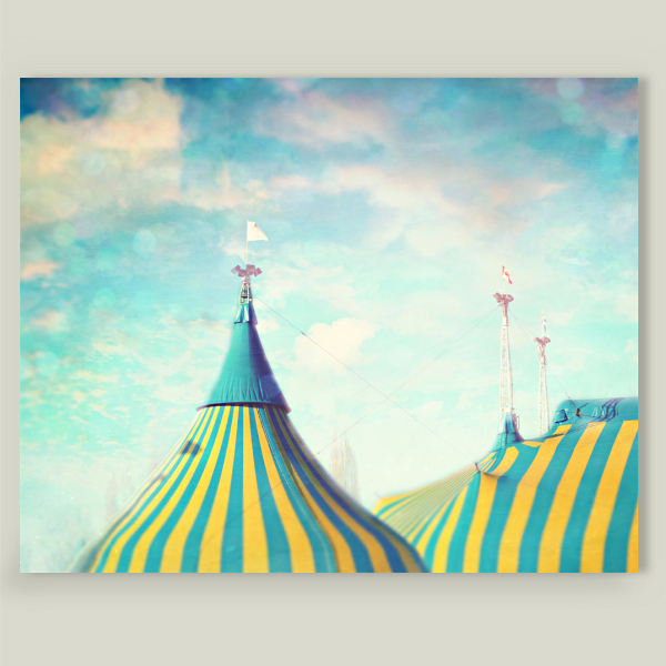 """Circus Tent"" by Sylvia Cook, BoomBoom Prints"