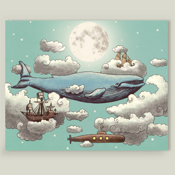 """Ocean Meets Sky"" by Terry Fan, BoomBoom Prints"